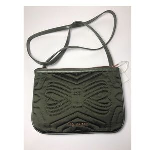 Ted Baker Quilted olive green crossbody bag